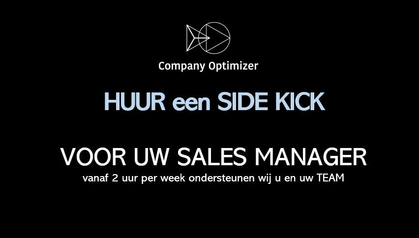 Sales Side-Kick voor Sales Manager Company Optimizer